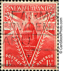 Peace Issue St Pauls Cathedral, London - NEW ZEALAND - CIRCA...