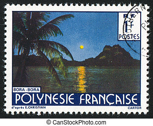 Bora Bora - FRENCH POLYNESIA CIRCA 1979: stamp printed by...