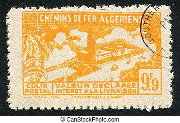 Algerian Railway - ALGERIA CIRCA 1941: stamp printed by...