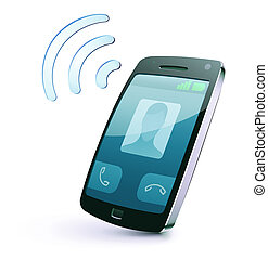 cellphone icon - illustration of cool detailed cellphone...