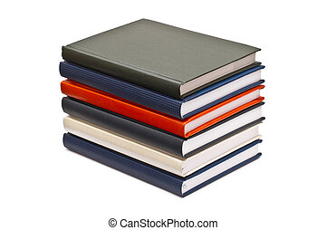 Stack of books, isolated on white background