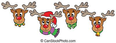 Four cute Christmas deers
