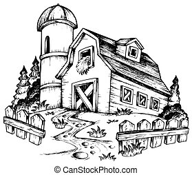 Farm theme drawing 1 - vector illustration