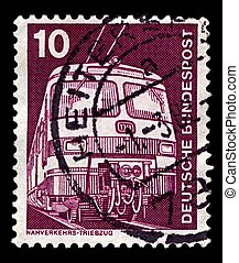 Postage stamp. - Germany-CIRCA 1975:A stamp printed in...