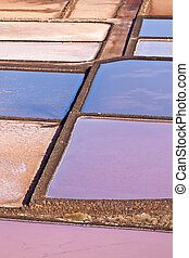 Salt refinery, Saline from Janubio, Lanzarote - Salt...
