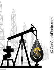 The oil industry - An abstract image of the oil industry