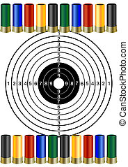Hunting ammunition and targets - Multi-colored hunting...