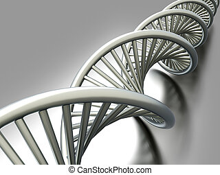 DNA Strand - A symbolic DNA model 3D rendered illustration...