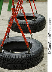 Swing made by tires
