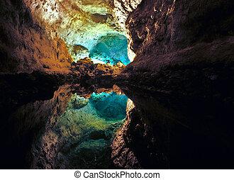 Cueva de Los Verdes in Lanzarote, Spain