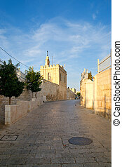 Street of Bethlehem Palestine, Israel - Morning on the...