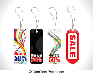 abstract sale tag