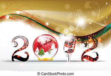 bstract new year background vector illustration