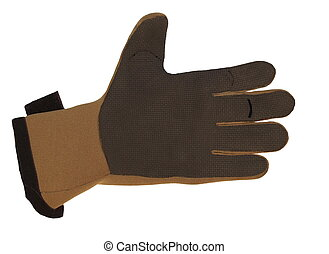 neoprene divers glove isolated on white background