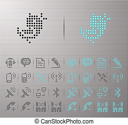 Computer and Internet icons - Perforated Communication...