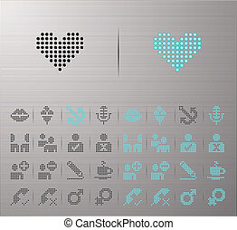 Computer and Internet icons - Perforated Internet and...