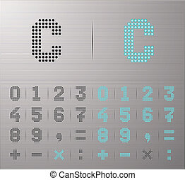 Computer and Internet icons - Perforated Calculator buttons