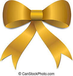 Gold Christmas Bow illustration - Big gold Christmas bow...
