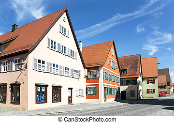 romantic Dinkelsbühl, city of late middleages and timbered...
