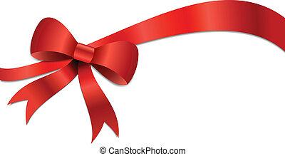 Christmas gift Bow illustration - Big red Christmas bow...