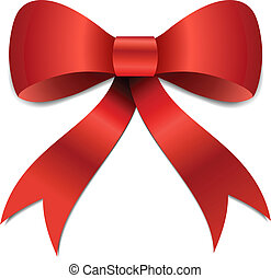 Christmas Bow illustration - Big red Christmas bow...