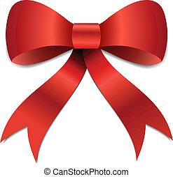 Christmas Bow illustration - Big red Christmas bow...