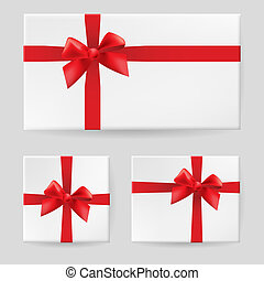 Red gift bow Illustration on white background for design