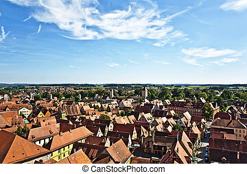 romantic Dinkelsbhl, city of late middleages and timbered...