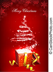 Christmas Surprise - illustration of christmas tree forming...