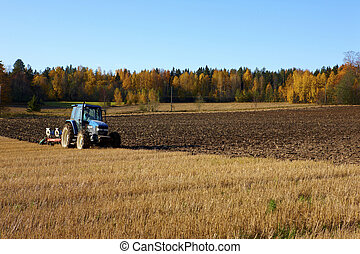 Finnish agriculture in the field a summer time.