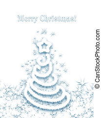Christmas tree isolated on a white background