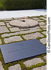 John F Kennedy Eternal Flame presidential memorial
