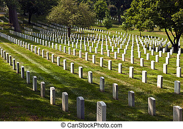 Headstones at the Arlington national Cemetery - Gravestones...