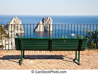 Faraglioni di Capri - Summertime at Capri, beautiful isle in...