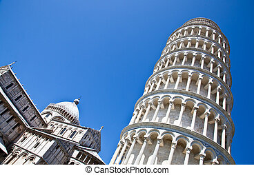 Leaning tower of Pisa - Italy - Pisa. The famous leaning...