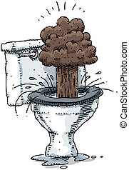 Toilet Explosion - The contents of a toilet explode.
