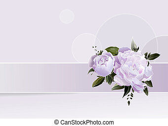 Romantic greetings card - Romantic flowers to greetings card...