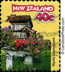 Wacky - Letterbox - NEW ZEALAND - CIRCA 1997: A stamp...