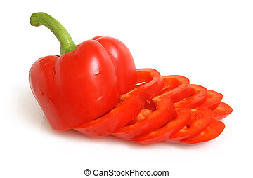 Bulgarian pepper on a white background