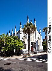 Huguenot Church in Charleston, South Carolina. This is a...