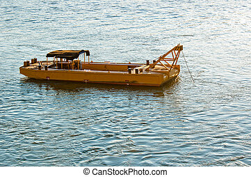 Old Boat on beautiful blue water
