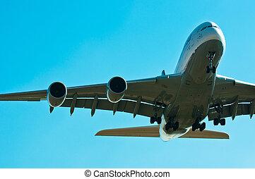 A big airbus starting to land