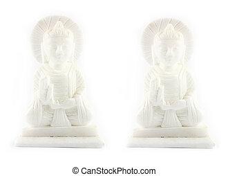 White buddha - White Buddha stone carving