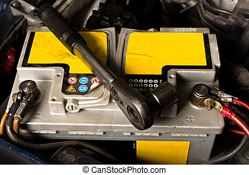 Car battery ready to be repaired
