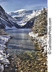 Lake Louise Winter Wonderland - River leading into Lake...