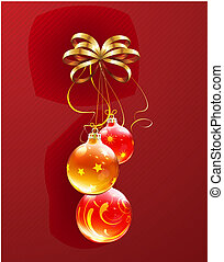 Christmas decorations - Vector illustration of cool...