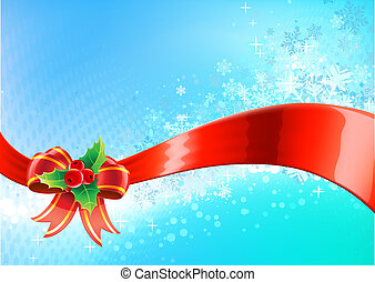 Christmas abstract background - Vector illustration of blue...