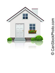 house icon - Vector illustration of cool detailed house icon...