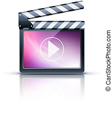 media player icon - Vector illustrator of media player icon