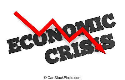 Concept of economic crisis, a 3D rendering.